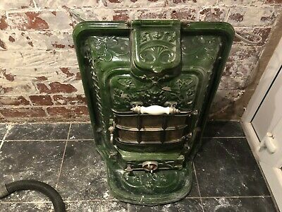 French Antique Original Cast Iron Ornate Electric Stove Very Heavy Sheffield