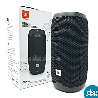 JBL Link 10 Portable Wireless Smart Sound Speaker - Black - Google Assistant