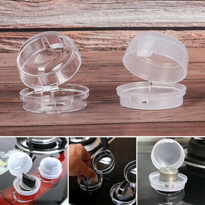 Plastic Kitchen Child Protection Gas Stove Protector Oven Lock Lid Knob Cover