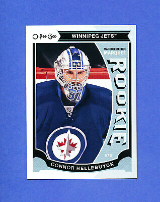 2015 OPC MARQUEE ROOKIE CONNOR HELLEBUYCK jets goalie RC