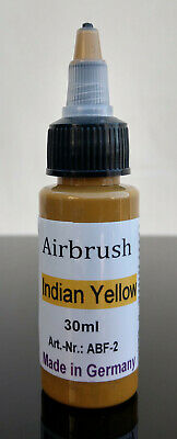 30ml Airbrush Farben, Farbe Indian Yellow Airbrushfarben Acryl Nail Nagel Bunt