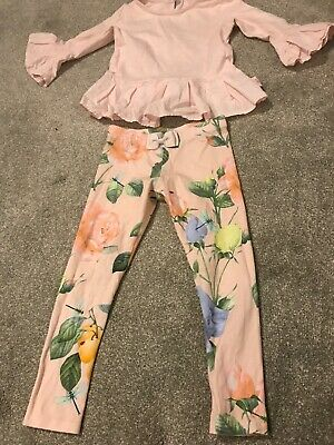 Girls Ted Baker Leggings And Top Outfit 5-6 Years