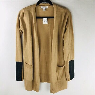 Motherhood Maternity Womens Size S Tan Open Front Cardigan Sweater Stretch