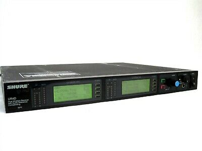 Shure UR4D L3 638-698MHz Band Dual-Channel UHF Pro Stage Wireless Receiver
