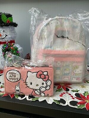 Loungefly Hello Kitty Frame Mini Backpack w/Wallet NWT!