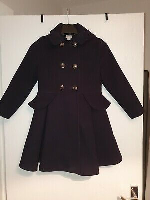Girls Monsoon Coat 7-8 Navy Blue Genuine Gorgeous Very Good Condition Winter...