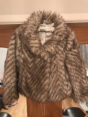 Girls Marks And Spencer Autograph Fur Coat Age 5-6