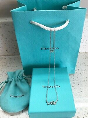 TIFFANY & CO. Sterling Silver Necklace Paloma Graffiti WISH Pendant 16""
