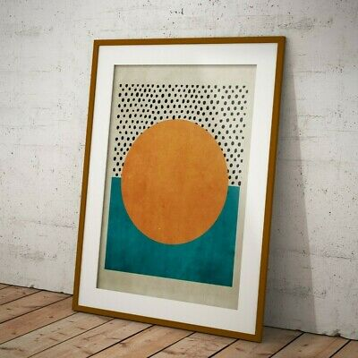 Abstract Mid Century Pop Art Deco Shapes A3 Retro Print - Limited Edition Of 100