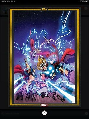 Topps Marvel COLLECT! GOLD Comic Book Day Cover Thor The Worthy #1 DIGITAL 1000c