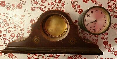 MANTLE CLOCK case and movement Inlaid very pretty