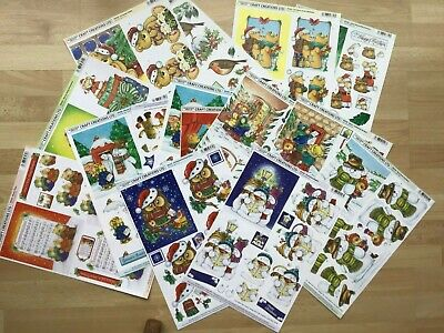 BUNDLE of 15 CRAFT CREATION DECOUPAGE NON DIE CUT  CHRISTMAS FOR CARDS & CRAFT