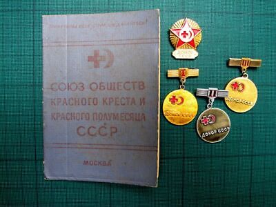 Honorable Donor USSR Red Cross Medal Pin Badge 1970s-80s Original