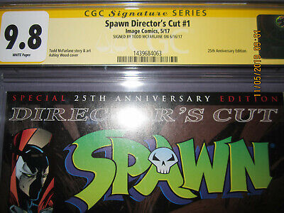 CGC 9.8 Spawn Signed Directors Cut #1 Todd McFarlane~A. Wood Cover 25th Annivers