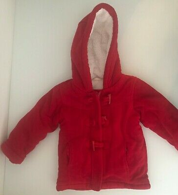 Lovely Thick Red WINTER JACKET for Girls size 2-3yrs  with Zip & Toggle closing