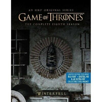 Game Of Thrones Season 8 4K Ultra HD Steelbook (4K+Bluray+Digital) Brand New