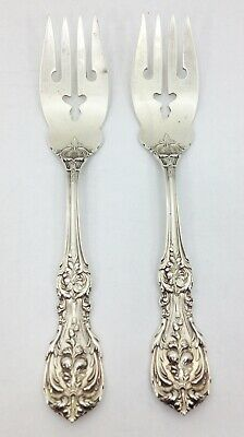 "2 FRANCIS I FIRST 1st Reed & Barton SALAD FORK Sterling Silver 6-1/8"" Old Mark"