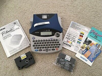Brother P-Touch 1900/1910 Label Thermal Printer + TZ tape