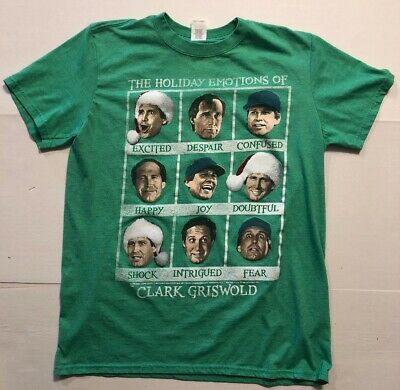 Christmas Vacation Men Graphic T Shirt Large Holiday Emotions Clark Griswold