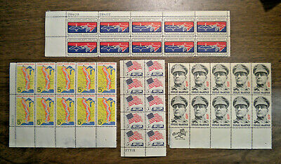 FOUR US blocks of 10  -  # 1306 to 1424  -  from 1966 to 1971  -   OG NH   #200