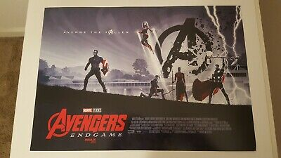 """2019 Avengers Endgame Promotional Movie Thick Poster 11"""" x 15.5"""" Week 2 AMC New"""
