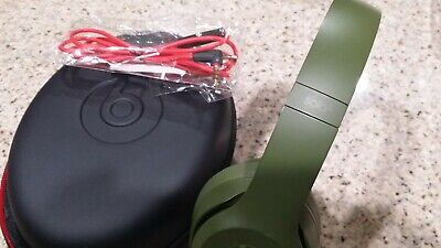Apple Beats By dr Dre Solo 3 Wired Headband Headphones neighborhood Turff Green
