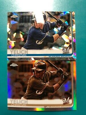 Christian Yelich 2019 Topps Chrome Saphire & Sepia Brewers