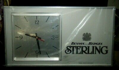 "Vintage Benson & Hedges ""Sterling"" Cigarettes Advertising Clock New In Plastic"