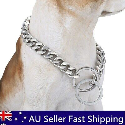 13mm Silver Stainless Steel Link Dog Choke Chain Pet Training Collars   BG