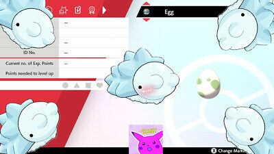 Pokemon Sword And Shield: Shiny Snom egg Perfect 6 IV Timid or Modest HA