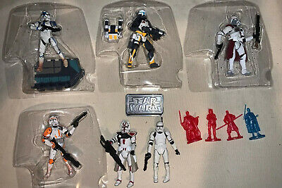 Lot of 6 Star Wars Clone Trooper Action Figure loose