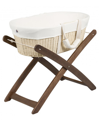 Baby Moses Basket & Wooden Stand by Bebe Care