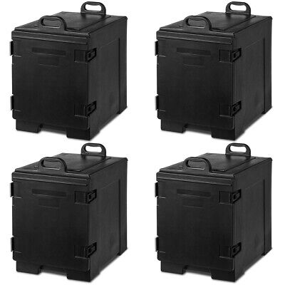 4 Pack End-Loading Insulated Food 5 Pan Carrier Hot & Cold Capacity w/Handle