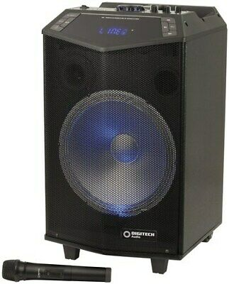 Rechargeable 12inch PA Speaker FM Radio Rechargeable BatteryWireless Microphone
