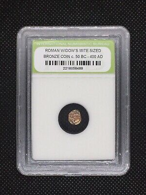Authentic Ancient Roman Widow's Mite Sized Bronze Coin 50 BC - 400 AD ROMWMS16