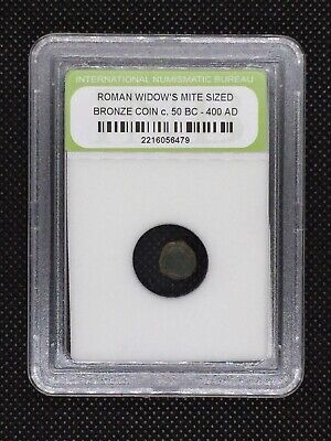 Authentic Ancient Roman Widow's Mite Sized Bronze Coin 50 BC - 400 AD ROMWMS01