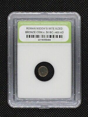 Authentic Ancient Roman Widow's Mite Sized Bronze Coin 50 BC - 400 AD ROMWMS04