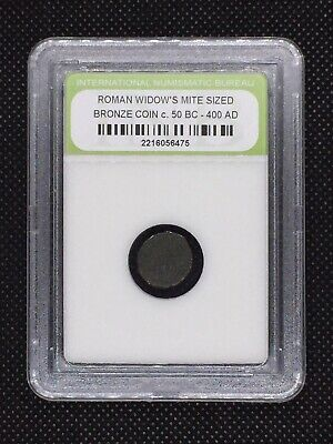 Authentic Ancient Roman Widow's Mite Sized Bronze Coin 50 BC - 400 AD ROMWMS12