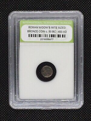 Authentic Ancient Roman Widow's Mite Sized Bronze Coin 50 BC - 400 AD ROMWMS14
