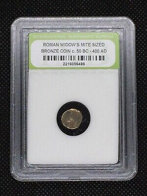 Authentic Ancient Roman Widow's Mite Sized Bronze Coin 50 BC - 400 AD ROMWMS06