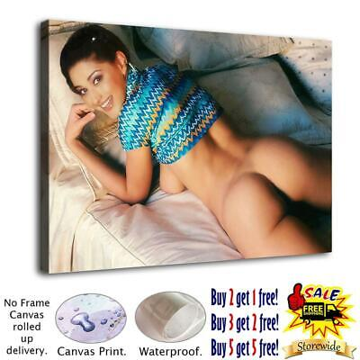 """12""""x18"""" Naked Girl on Bed HD Canvas print Paint Home Decor Picture Room Wall art"""