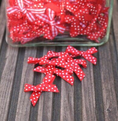 red and white craft bows christmas crafts cardmaking supplies 7mm ribbon