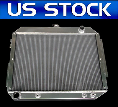 3 ROW Aluminum Radiator for 1966-1970 Chrysler//Dodge Polara//Plymouth Fury 7.2L