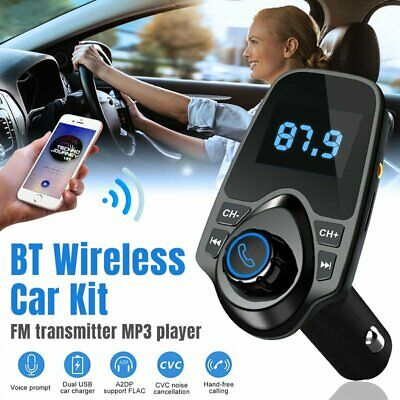 Wireless Bluetooth Car Kit FM Transmitter Handsfree Car Charger MP3 Player USB