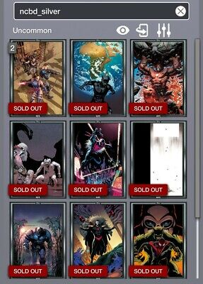 Topps Marvel Collect - Comic Book Day silver - 9 inserts DIGITAL