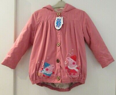 New With Tags Girls Peppa Pig Jacket By Next Age 5-6 Years Pink Mix