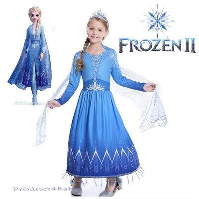 2019 New Release Girls Frozen 2 Elsa Costume Party Birthday Dress size 2-10Yrs