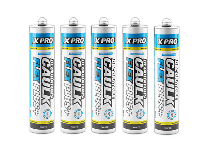 5 of XPRO Decorators Caulk Flex Plus C3 Premium Grade - White