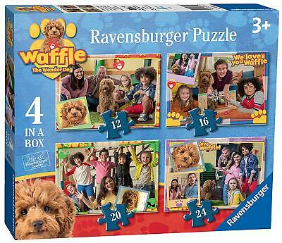 Ravensburger Disney Waffle the Wonder Dog 4 in Box Jigsaw Puzzles - Kids toy 3+