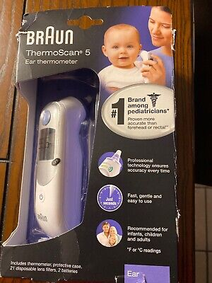 Braun Thermoscan 5 Ear Thermometer Infants Children Adults Irt6020